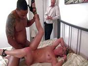 Cuckold Amanda Gets Banged In Front Of Husband