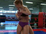 Rampant Blue Angel Torments This Tart In The Ring