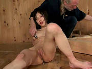 Asian Bitch Recieves A Rough Welcome To The Country By A Freak Bondage Master!