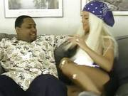 Sultry Blonde With Long Hair Moaning From Hard Doggystyle