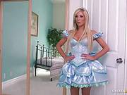 Hot Doll Looking Blonde Tasha Reign Plays With Two Rods And Gets Fucked In Ass