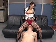 Kinky Japanese Milf Arisa Misato Has Fun With A Guy In An Office