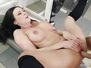 Instead Of Working Out Horny Brunette Kendra Lust Has Her Pussy Hardly Drilled