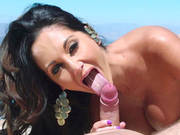 Ava Addams Deepthroating His Throbber By The Pool