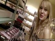 Young Beauty Blue Angel Gets Filmed In Lingerie Shop