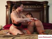 Brandi May Oils Up Ava Devines Round Ass