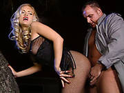Busty Blonde Whore Kitty Sixx Gets Fucked From Behind