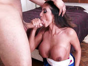 Ariella Ferrera Sucked And Jugfucked His Large Rod