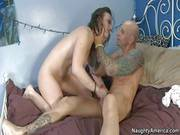 Pale Jennifer White Gets Fucked Hard By Tattooed Muscled Barry
